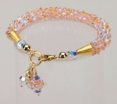Peach Crystal Cascade Necklace<!--Dogs-->