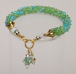 Peridot<br />Crystal Cascade Necklace<!--Dogs-->