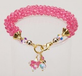 Rose Crystal Cascade Necklace<!--Dogs-->
