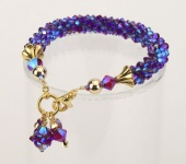Grape Crystal Cascade Necklace<!--Dogs-->