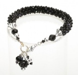 Ebony<br />Crystal Cascade Necklace<!--Dogs-->