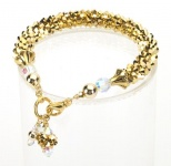 Gilt Crystal Cascade Necklace<!--Dogs-->