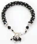 Silver Dot<br />Crystal Cascade Necklace<!--Dogs-->