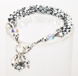 Silver<br />Crystal Cascade Necklace<!--Dogs-->