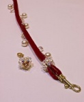 Raspberry Velvet Cord Leash