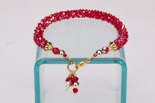 Ruby Crystal Cascade Necklace<!--Dogs-->