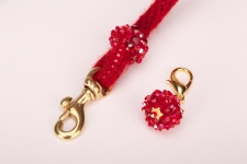 Crimson Cashmere Leash