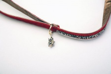 Ruby Pyramid Luxe Leash